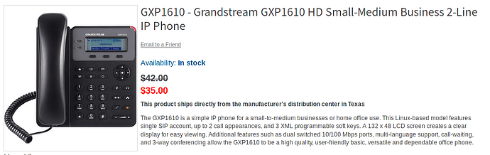 Inexpensive freepbx/asterisk compatible phones - General