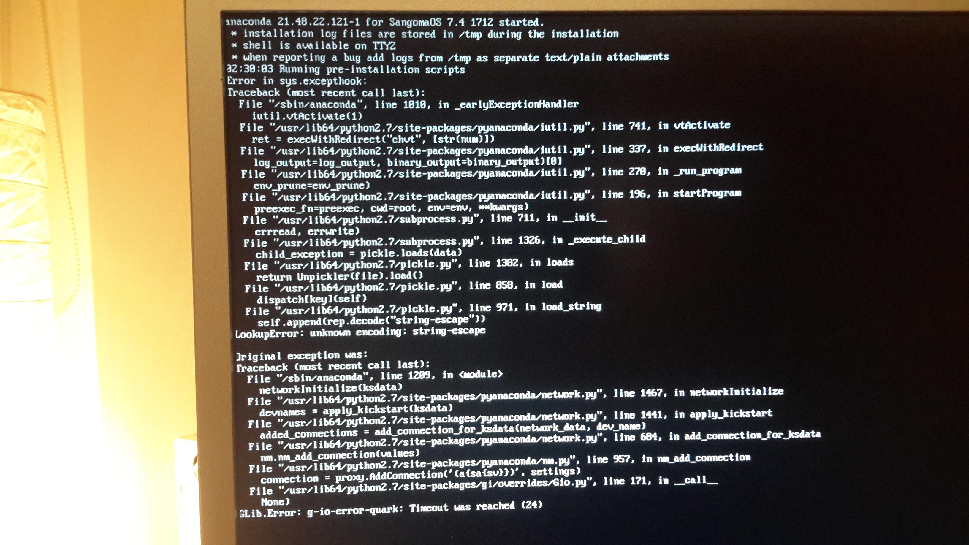 Distro install hangs - Distro Discussion & Help - FreePBX